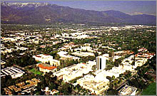 Aerial picture of the Caltech Campus